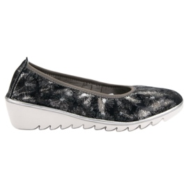 Filippo modrý Navy kožené baletní boty