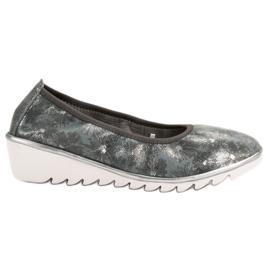 Filippo Tmavě šedá kožená obuv