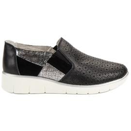 Filippo černá Black Shoes Slip On
