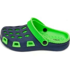 Aqua-Speed Vodní rychlořezné pantofle Silvi Jr col 48 zelené tmavě modré