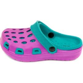 Pantofle Aqua-speed Silvi Jr col 09 fialová modrá