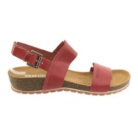 Big Star červená Dámské sandály Red Big 274A016