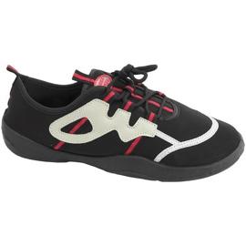Plážová obuv Aqua-speed černá šedo-červená 19A