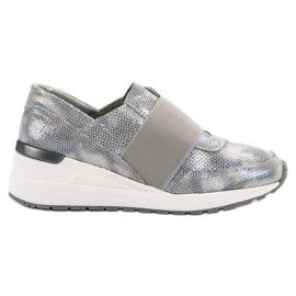 Goodin šedá Slip-on kožené boty