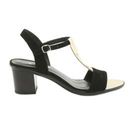 Dámské sandály Anabelle 1447 černá / zlatá