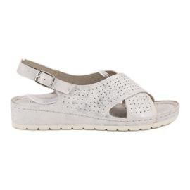 Goodin bílá Sandály na platformě