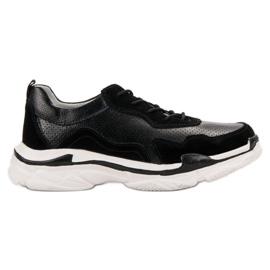 Goodin černá Černé kožené tenisky