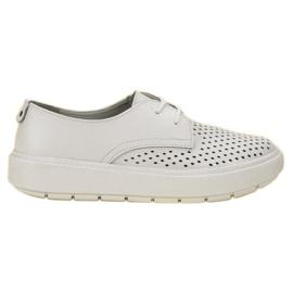 Goodin bílá Lehké kožené boty
