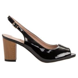 Goodin černá Lakované dámské sandály