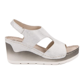 Goodin bílá Pohodlné klínové sandály