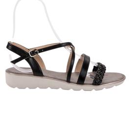 Kylie Černé Sandály Na Platformě černá