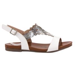 Kylie bílá Stylové ploché sandály