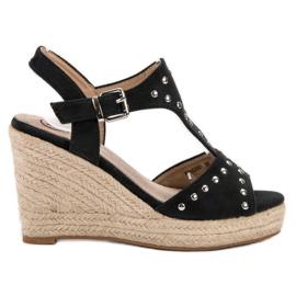 Kylie černá Sandály s tryskami