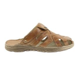 Naszbut hnědý Pánské pantofle 051 béžové