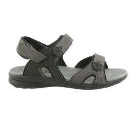 American Club Americké HL09 černé / šedé sportovní sandály