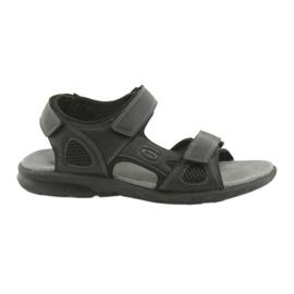 American Club černá Americké černé sportovní sandály HL06