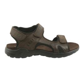 American Club Americké kožené sportovní sandály CY11 hnědé