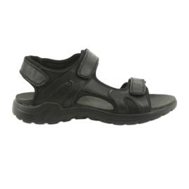 American Club Americké kožené sportovní sandály CY11 černá