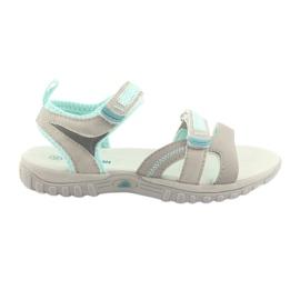 Dámské sandály American Club HL14 šedá / máta