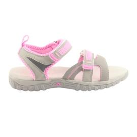Dámské sandály American Club šedé / růžové