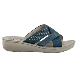 Evento modrý Pohodlné modré pantofle