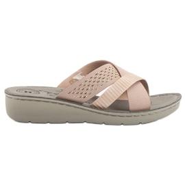 Evento růžový Pohodlné pantofle