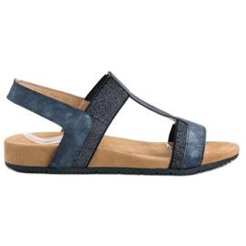 Evento modrý Modré Slip-on Sandály