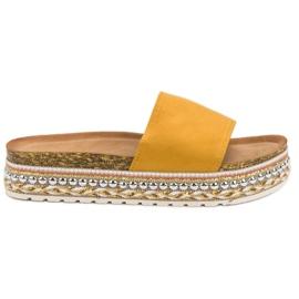 Cm Paris Pantofle Na Platformě žlutý