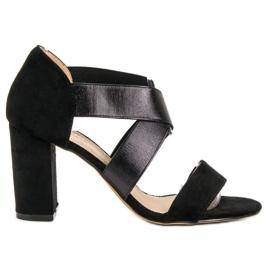 Evento černá Slip-on sandály s gumičkou