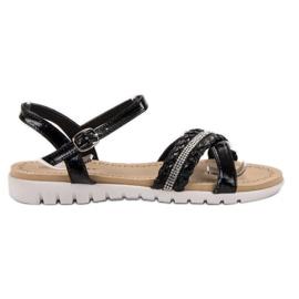 Groto Gogo Sandály S krystaly černá