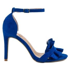 Kylie modrý Sandály Na Pin S Náprstek