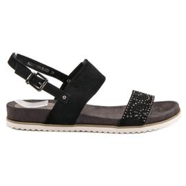 Evento černá Černé prolamované sandály