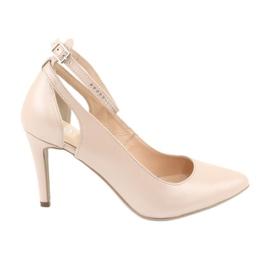 Hnědý Dámská obuv Edeo 3212 béžová perla