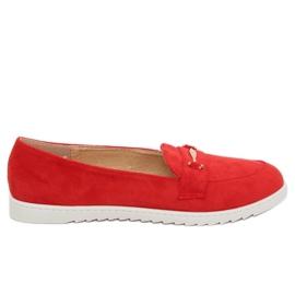 Dámské mokasíny červené BJ600-E25 Red červená