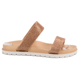 Seastar Lesklé pantofle žlutý