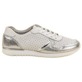 Filippo Stříbrné kožené boty