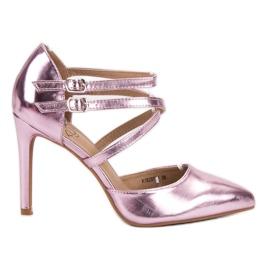 Kylie růžový Lesklé módní knoflíky