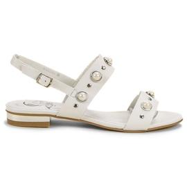 Kylie bílá Pohodlné ploché sandály