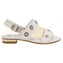 Kylie bílá Neformální bílé sandály