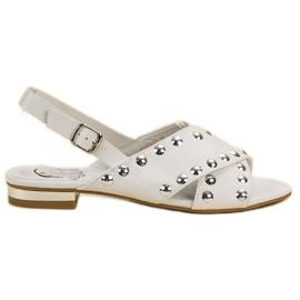 Kylie bílá Bílé Sandály Připevněné Přezkou