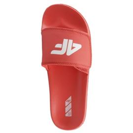 Pantofle 4F Jr J4L19-JKLD200 62S červená