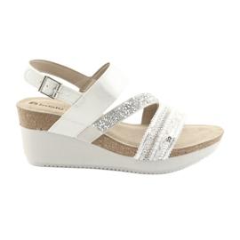 Sandály klín INBLU EN009 stříbrné