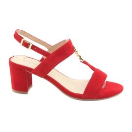 Červená Sandály na post červené Caprice 28303