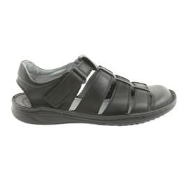 Černá Pánské sportovní sandály Riko 619 black