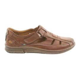 Hnědý Riko 458 pánských komfortních sandálů
