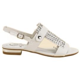 Kylie bílá Bílé dámské sandály