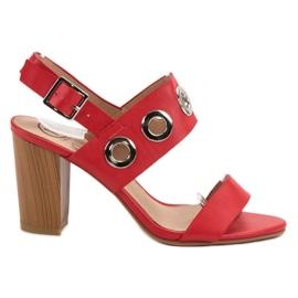 Kylie červená Červené vysoké podpatky