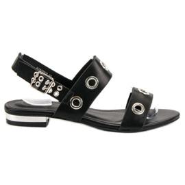 Kylie černá Příležitostné černé sandály