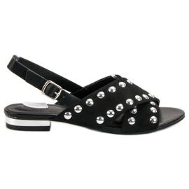 Kylie černá Černé sandály s přezkou