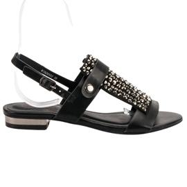 Kylie černá Černé dámské sandály
